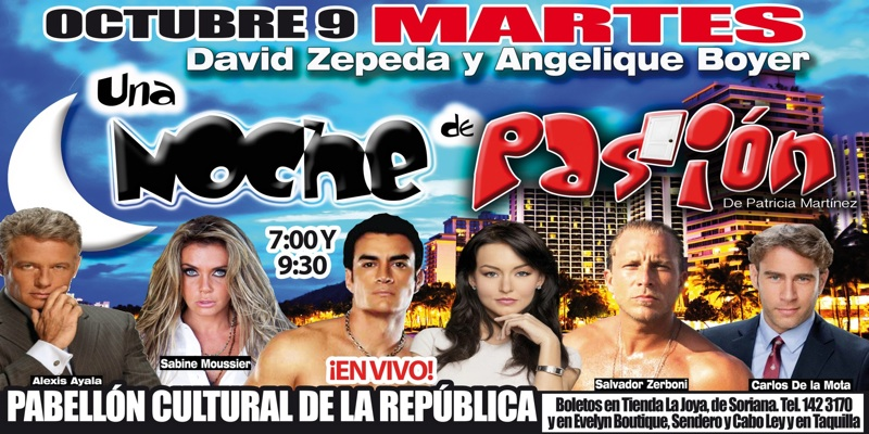"""Angelique Boyer y David Zepeda debutan con éxito en el teatro con """"Noche de Pasión"""""""