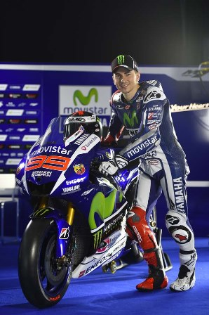 Jorge Lorenzo with his 2015 machine