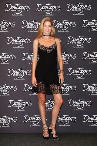 BERLIN, GERMANY - AUGUST 31: Hunkemoeller Brand Ambassador Doutzen Kroes attends the presentation of the new Hunkemoeller Brand Ambassador at Hotel De Rome on August 31, 2016 in Berlin, Germany. (Photo by Franziska Krug/Getty Images for Hunkemoeller)