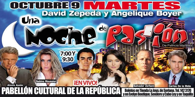 Angelique Boyer y David Zepeda debutan con éxito en el teatro con «Noche de Pasión»